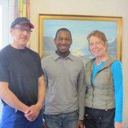 In Kangerlussuaq, Greenland w/ Mayor Kreutzmann (l) & Administrator Zeeb