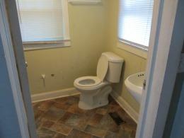 New toilet installed