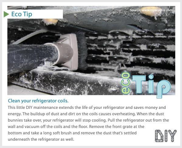 EcoTip: Clean Fridge Coils