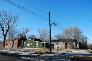 Abandoned homes in Gary, IN (photo: Lotzman Katzman)